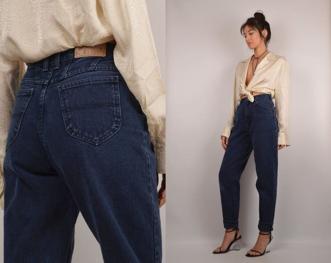 Vintage High Waist Tapered Jeans