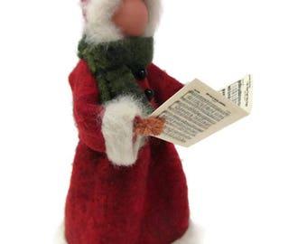 Christmas Caroler Ornament, Caroler Lady, Clothespin Ornament, Victorian Caroler, Wool Felt, Ornament Exchange, Peg Doll, Christmas Decor