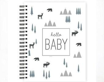 Hello Baby™ Baby Book, Baby Memory Book, ADVENTURE Baby Album, Personalized Baby Book, ADVENTURE, The Sweet Rhino