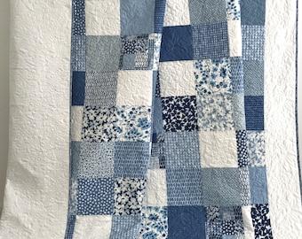 King Patchwork Quilt w/ Designer Fabrics