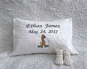 Baby Pillow Sham w/ Custom Embroidery