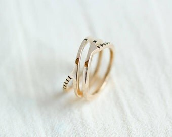 Promise Ring for Her - Infinity Knot Ring - Eternity Ring - Friendship Ring- Gold Stacking Jewelry Graduation Rings