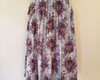 Vintage Floral Skirt / Sm/Med /  Spring Bouquet