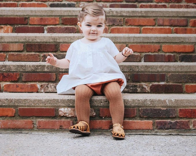 Girls White Dress - Gown for Baby - White Organic Cotton Dress - Toddler Clothes - Simple Baby Dress - Baby Gift Ideas