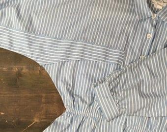 1980s Batwing Sleeve Shirtwaister Dress