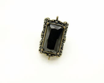 gothic Black ring jewelry