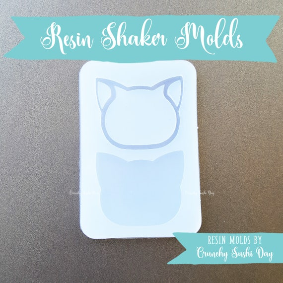 Cat Resin Shaker Mold, Resin Shaker Mold, Silicone Mold, Epoxy, Shaker Mold, Charm Mold, Kawaii, Resin Mold, Hollow Mold, UV Resin Mold