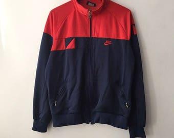 vintage nike blue tag track jacket mens size XL 80s