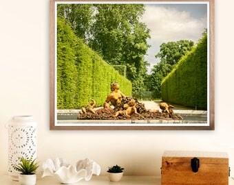 Versailles art print, Versailles garden, Fine art photography, Landscape print, Large wall art, Summer decor, 16x20, 18x24, 24x30 art print