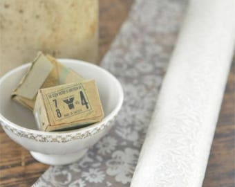 Organza Cream and White Transparent  Fabric Roll for Home Decor and Craft by Jeanne D' Arc