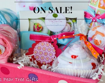 Baby shower gift basket etsy complete baby girl baby shower gift basket baby gift basket negle Gallery