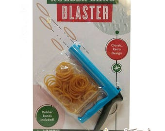 Rubber Band Blaster Toy - Rubber Band Shooter Toy Gun, Office Fun, Coworker Gift, Stress Relief, Destresser, Retro Toy, Home Office Desk Toy