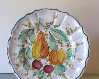 Vintage Made in Italy Ceramic Pottery Platter