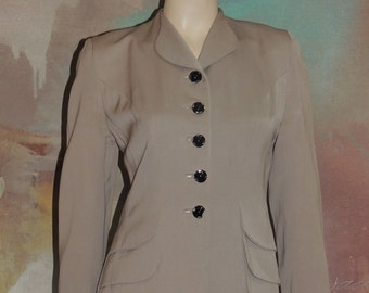 1940s Youthcraft Tan Suit Jacket S to M