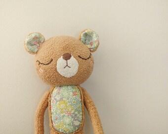 OOAK Liberty of London Bear Plush - Home Decor - Bear Collection - Bear plushie - Softoy - Stuffed Animals - Nusery Decor - Ready to Ship