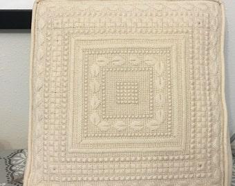 Irish Lace Sampler Pillow