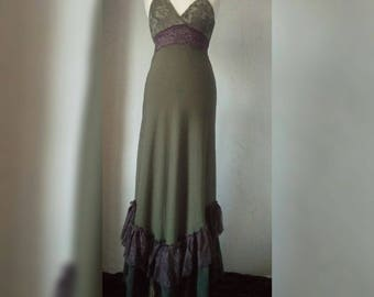 RESERVED Unique leafy nymph forest dress...
