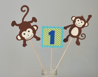 Monkey Centerpiece ,Monkey Party Centerpiece, Monkey Party Decorations