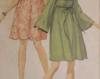 Vintage Simplicity 8039 Sewing Pattern Size 14 Dress with Empire Waistline