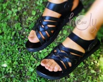 Handmade Leather Sandals, Black Leather Sandals, Womens Sandals, Mens Leather Sandals, Leather Sandals Women, Womens Shoes, Hippie Sandals