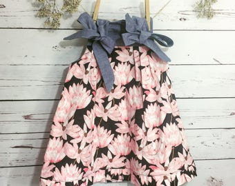 Size 1 Girls Floral Tie Up Sundress