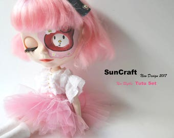 Handmade Neo Blythe Princess Tutu Set with New top layer by SunCrafte 2017