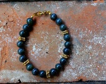 Jade Bracelet - Jade - Bracelet - Gold Accents