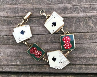 Vintage Playing Card Bracelet