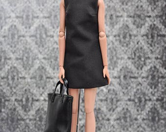 ELENPRIV A-siluet little black dress for Fashion royalty FR2 and similar body size dolls