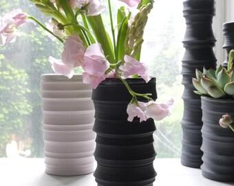 Branch Vase (Small), Black Velvet, Wheel Thrown Ceramics, Handmade, Vase
