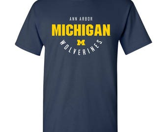 9d7525191a00b Michigan Wolverines Inverted Arch T-Shirt - Navy