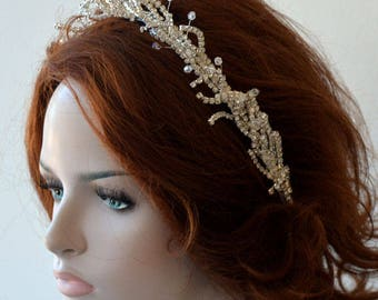 Wedding Headbands for Bride, Bridal Headbands Silver, Headpiece Wedding Silver Rhinestones, Hair Jewelry, Hair Accessory