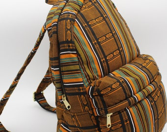 African Print Backpack (Kente) by Daffina