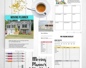 Moving Planner Printable | Moving Printable | Moving Labels | Packing Labels | Box Labels | PDF Printable | Shanhan Studio