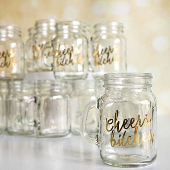 Party Shots Shot Glasses Mason Jar Wedding