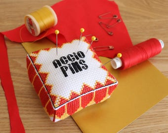 Funny Cross Stitch 3D Pin Cushion Pattern, House pride, PDF download and free tutorial