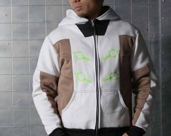 Genji Cyber Ninja Overwatch Cosplay Costume Hoodie Jacket