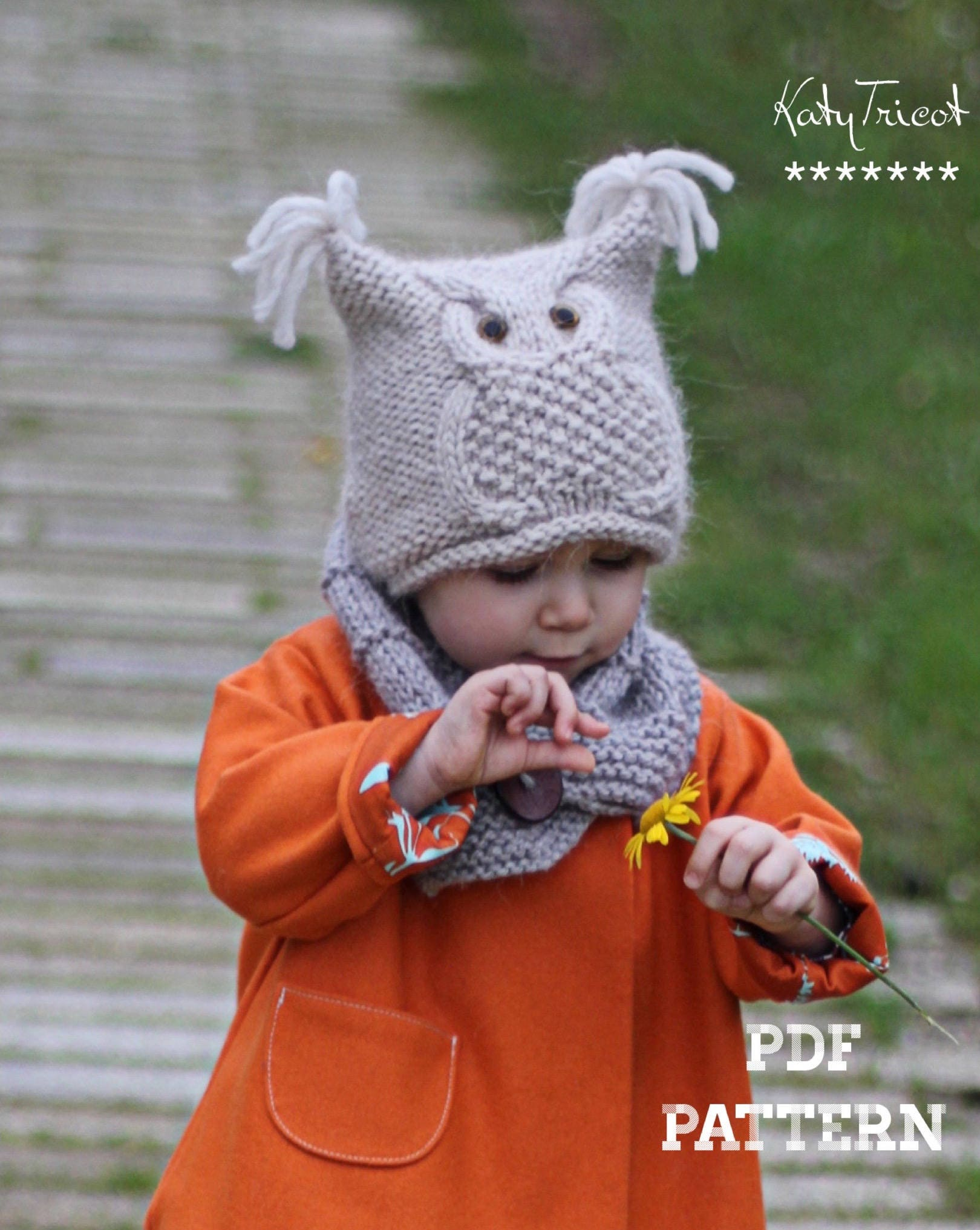Owl hat knitting pattern chouette toddler child zoom bankloansurffo Image collections