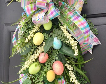 EASTER MORNING - Easter/Spring Decorative Teardrop Swag