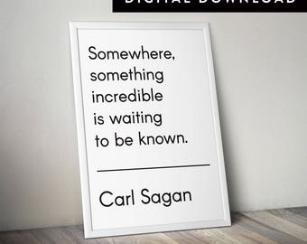 CARL SAGAN QUOTE (Downloadable Typographic Poster, Astronomy Print)
