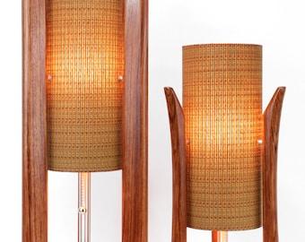 midcentury lamps pair danish modern lamps atomic lamps new