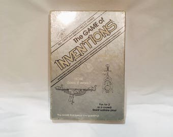 The Game of Inventions, Avalon Hill Game Co, 1984, Vintage invention game, Curious game, Odd game,