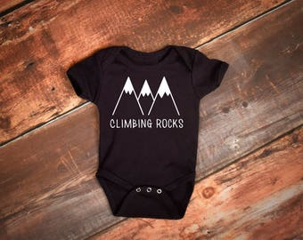 Climbing baby, Rock climbing baby Baby boy clothes Climb on baby baby gift, climbing, baby boy outfit Outdoors baby Adventure baby gift