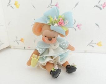 Chunky Monkey with Banana Miniature Figurine Collectible Doll