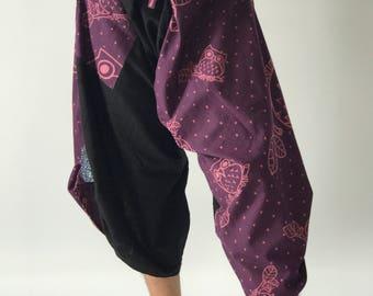 SR0126 Samurai Pants Harem pants have fisherman pants style wrap around waist