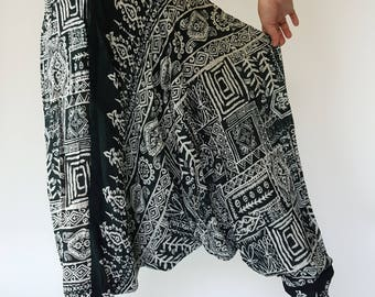 HL0092 Harem Pants Unisex Low Crotch Yoga Trousers gypsy pants rayon pants,aladdin pants maxi pants boho pants