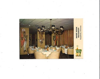 1970s or Earlier Vintage Color Photo Postcard of Holiday Inn Empire Room Restaurant, Russellville, Arkansas, Unposted, Vintage Ephemera