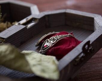 Garnet silver earrings Art Nouveau /Art Deco,filigree silver earrings with garnet,silver earrings rose,silver filigree jewelry Boho,romantic