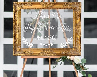 Acrylic Wedding Sign • This is our Happily Ever After Acrylic Sign • Acrylic Wedding Sign • Acrylic Sign