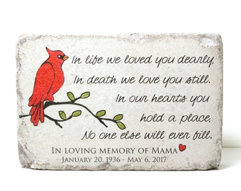 Remembrance Stone. 6x9 Concrete Garden Decor/ Sympathy Gift/ Garden Stone/ Indoor or Outdoor/ Rustic Decor/ In Memory of